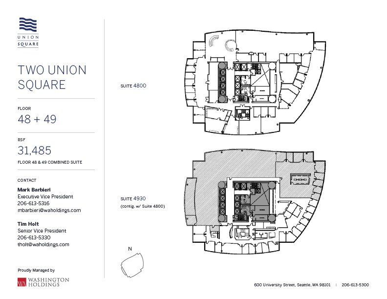 Image of Two Union Square, floor 49